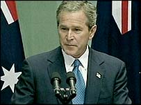 Bush addresses Australian parliament