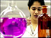 An Indian researcher