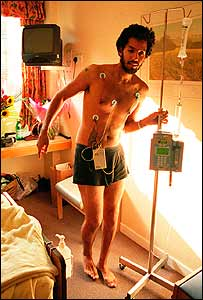 David Blaine in hospital