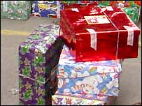 Shoebox gifts