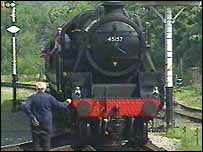 An engine operated by the East Lancashire Railway
