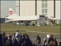Concorde at Cardiff International Airport on Thursday