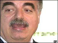 Lebanese Prime Minister Rafik Hariri