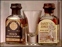 Black Mountain brandy and Danzy Jones Whiskey