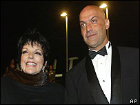 Actress and singer Liza Minnelli (left) with friend Yossi Dina