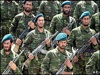 Afghan national troops graduating in April 2003