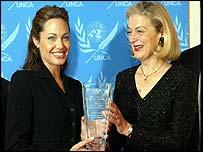 Angelina Jolie with Nane Annan
