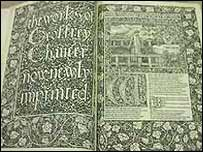 A copy of Canterbury Tales printed by a private press in the late 19th Century