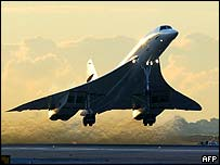 Concorde takes off from New York