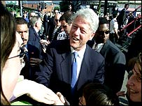 Bill Clinton meets people in Northern Ireland