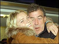 Jodie Kidd and Jeremy Clarkson before boarding