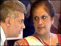 PM Ranil Wickramasinghe and President Chandrika Kumaratunga