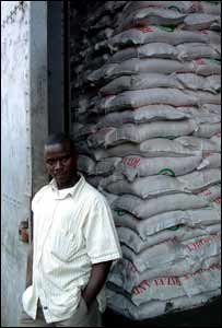 Rice is sent to neighbouring Mali