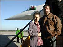 Barbara and Martin Curry and Concorde