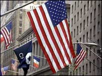 Flags on Wall Street