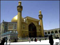 The holy shrine of Imam al-Ali in Najaf Iraq