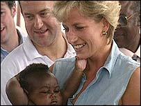Burrell accompanied Diana on foreign trips
