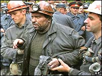Rescued miner
