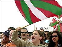 Basque supporters at a rally