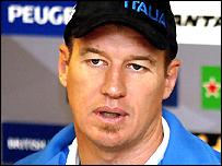 Italy coach John Kirwan