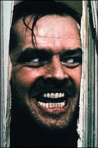 Jack Nicholson is The Shining