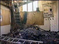 Fire damage at Holy Trinity Church, Little Dawley, Telford