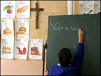 Italian classroom