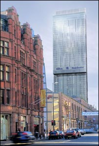 Artist's impression of how the high rise block would look in Manchester city centre
