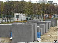 Holocaust memorial slabs