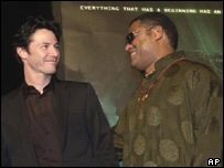 Keanu Reeves and Laurence Fishburne