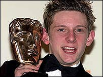 Billy Elliot star Jamie Bell with Bafta award