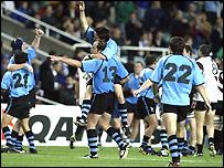 Uruguay celebrate their win