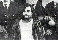 George Best arrested by two policemen in 1984