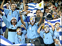 Uruguay's fans find plenty to celebrate at the Aussie Stadium