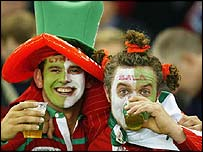 Welsh fans in Sydney