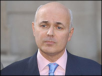 Iain Duncan Smith outside Conservative Central Office
