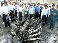 Scene of blast in Falluja