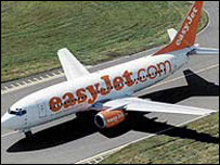 EasyJet plane on the runway