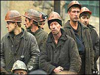Miners in Novoshakhtinsk