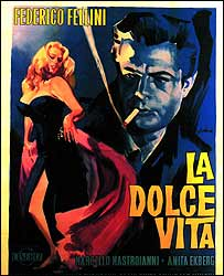 Poster for La Dolce Vita, 1959 (image: Massimo & Sonia Cirulli Archive, New York)