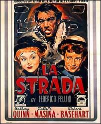 Poster for La Strada, 1954 (image: Coll Museo Nazionale del Cinema Turin)