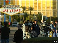 TV crews in Las Vegas