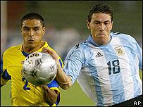 Iván Córdoba y Cristian González