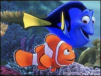 Finding Nemo - Nemo (left) with Dory