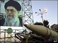 Iranian missile on parade in September.