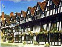 Half-timbered houses in Stratford
