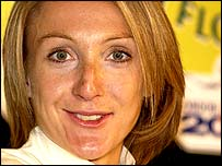 Distance running superstar Paula Radcliffe
