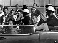 Mr and Mrs Kennedy seconds before the president was hit