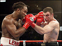 Lennox Lewis defended his WBC title once in 2003