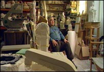 Paolozzi in his studio in his 70s